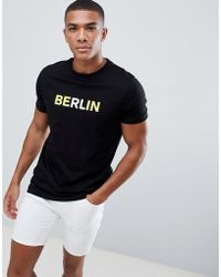 ASOS - Design T-shirt With Berlin Slogan Print - Lyst