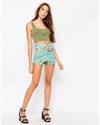 Motel - Ibu Shorts In Floral Print - Lyst