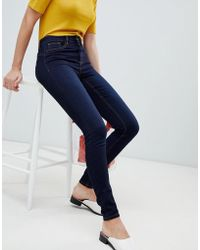Pieces - Shape Up Mid Rise Jegging - Lyst