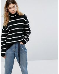 Carhartt WIP - Relaxed Roll Neck Jumper With Stripe In Wool Mix - Lyst