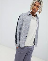 Sixth June - Shirt With All Over Check And Side Stripes - Lyst