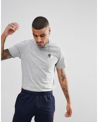 Gio Goi - T-shirt With Small Logo In Grey - Lyst