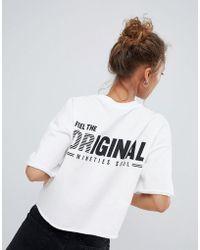 Bershka - Cropped Original 90s T Shirt - Lyst