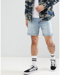 Weekday - Vacant Denim Shorts In Light Blue - Lyst
