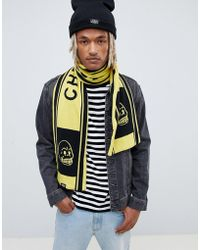 Cheap Monday - Soccer Scarf In Black And Yellow - Lyst