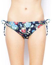 Marie Meili - Mauritius Floral Side Tie Bikini Bottoms - Lyst