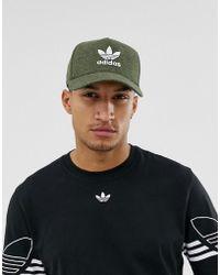 adidas Originals - Melange Trefoil Cap Green - Lyst