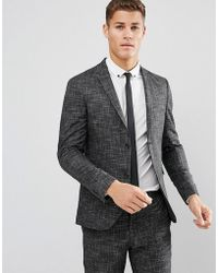 Jack & Jones - Premium Slim Suit Jacket In Crosshatch - Lyst