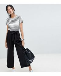 ASOS - Asos Design Tall Mix & Match Culotte With Tie Waist - Lyst