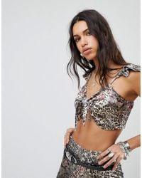 ebonie n ivory - Luxe Festival Crop Top In Leopard Velvet Co-ord - Lyst