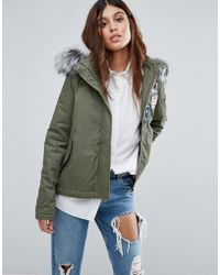 AX Paris - Parka With Badging - Lyst