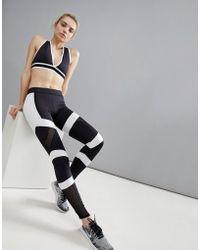 South Beach - Monochrome Panelled Leggings - Lyst