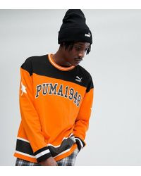 PUMA - Hockey Sweat In Orange Exclusive To Asos - Lyst
