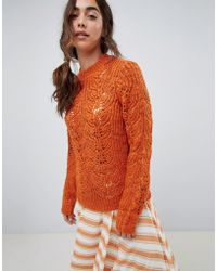 Vero Moda - Chunky Cable Knit Jumper - Lyst