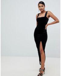 e4b817afa6 ASOS Spot Mesh Maxi Skirt in Black - Lyst