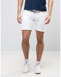 Pepe Jeans - Pepe Cane Slim Fit Denim Short White Wash - Lyst