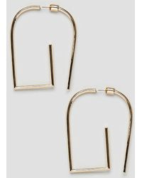 ASOS DESIGN - Earrings In Geometric Front Back Design In Gold - Lyst