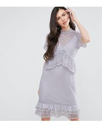 Y.A.S - Y.a.s Studio Tall Lace Ruffle Midi Dress - Lyst