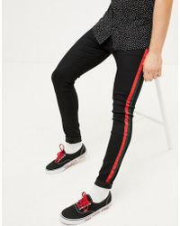1721bf546f Sixth June Super Skinny Jeans With Blown Out Knees in Green for Men - Lyst