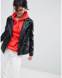 2nd Day - 2ndday Longline Leather Biker Jacket - Lyst