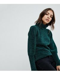 Warehouse | Roll Neck Mutton Sleeve Chenille Jumper | Lyst