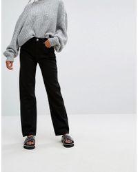 Weekday - Voyage Mid Rise Crop Mom Jeans - Lyst