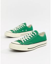 7bb44bb9a3b6 Converse - Chuck Taylor All Star  70 Ox Trainers In Green 161443c - Lyst