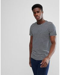 SELECTED - Stripe T-shirt - Lyst