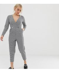 8905ada6261 Miss Selfridge - Tailored Jumpsuit In Houndstooth - Lyst