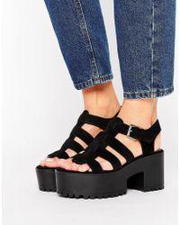 Pull&Bear - Chunky Heeled Sandal - Lyst