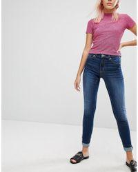 Monki - Mocki Slim Mid Waist Jeans - Lyst
