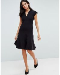 Y.A.S - Cisley V Neck A Line Dress - Lyst