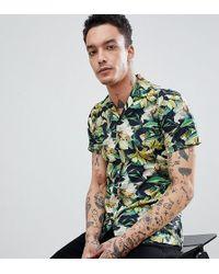Heart & Dagger - Skinny Smart Revere Collar Hawaiian Shirt - Lyst