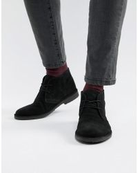 Office - Fahrenheit Boots In Black Suede - Lyst