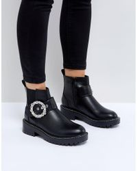 River Island | Embellished Buckle Ankle Boots | Lyst