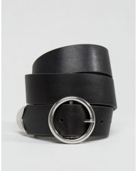 ASOS - Tipped End Circle Buckle Jeans Belt - Lyst