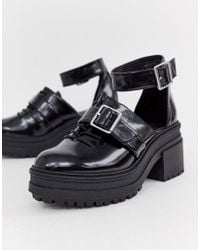 ASOS - Typhoon Chunky Lace Up Shoes - Lyst