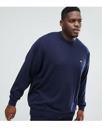 Lacoste - Plus Crew Neck Jumper In Navy - Lyst