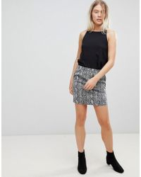 Minimum - Moves By Snake Print Skirt - Lyst