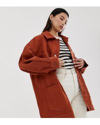 Weekday - Double Pocket Workers Jacket In Rust - Lyst