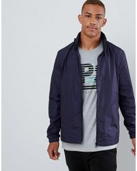 PS by Paul Smith - Nylon Zip Through Jacket In Navy - Lyst