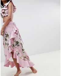 Ted Baker - Floral Frill Beach Skirt - Lyst
