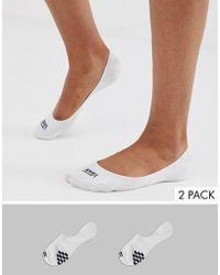 Vans Core No Show White 2pk Socks