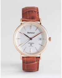 Barbour - Bb069slbr Bamburgh Leather Watch In Tan - Lyst