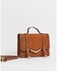 ASOS - Strukturierte Satchel-Tasche mit V-Steg-Design - Lyst