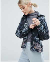 Storm and Marie | Storm & Marie Abstract Six Print Hooded Jacket | Lyst