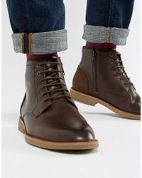 New Look - Faux Leather Boots In Dark Brown - Lyst