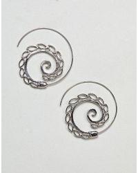 ASOS - Design Petal Pull Through Earrings - Lyst