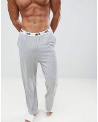 ASOS DESIGN - Straight Leg Jersey Pyjama Bottom In Grey Marl - Lyst