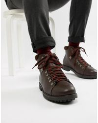 Truffle Collection - Bottines style randonne lacets contrasts - Lyst